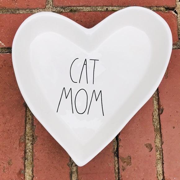 Rae Dunn 'CAT MOM' Ceramic Heart Bowl NEW!